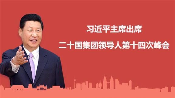 习近平主席出席二十国集团领导人第十四次峰会